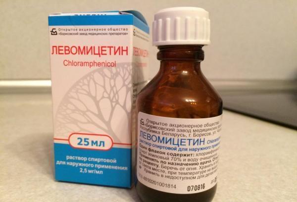 Области применения и свойства спиртового раствора левомицетина